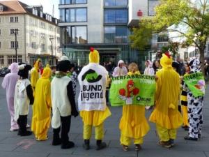 Aktion gegen Massentierhaltung
